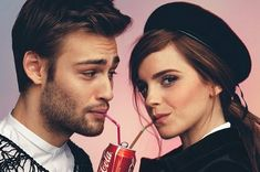 British actors Douglas Booth and Emma Watson are photographed by Christian Oita and styled by Matthew Josephs for the February/March 2014 issue of Wonderland magazine. Douglas Booth, Emma Watson, Pretty People, Beautiful People, Amazing People, Johny Depp, Harry Potter Film, Daniel Radcliffe, Celebrity Couples