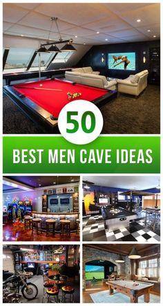 Best Man Cave Ideas 2016                                                                                                                                                     More