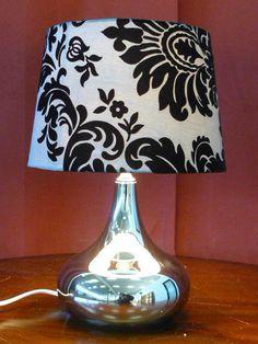 LAMP - LAMPADA STILE DECO' CON BASE IN METALLO H. 41 CM