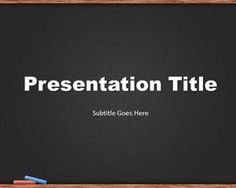 Plantilla PowerPoint de Pizarra Negra