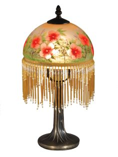"""Pansy Beaded 14.5"""" H Table Lamp with Bowl Shade"""