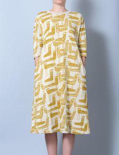 mina perhonen mingling bird print dress