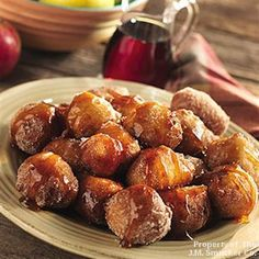 Apple Fritters with Spiced Syrup | The Power of Family Meals® – Family Mealtime Recipes and More