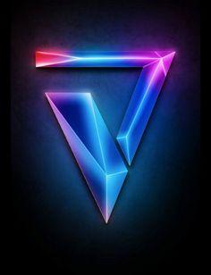 photoshop tutorials Create 3D Logo with ...   Art > Triangulation