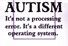 Autism Different Operating System