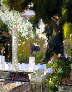 bofransson:  Garden of the Sorolla House Joaquin Sorolla y Bastida - 1920