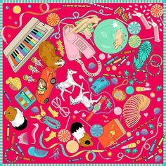 'bedroom floor' silk scarf by Karen Mabon