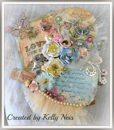 Romantic Canvas created by Kelly Neis. For more details check out: http://southernchipboard.blogspot.ca/2014/03/romantic-canvas.html. To order this amazing chipboard check out: www.southernridge.net