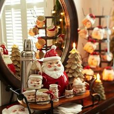 Pottery Barn takes us back to Christmas past Christmas Mood, Little Christmas, Christmas Gifts, Christmas Decorations, Christmas Vignette, Winter Holiday, Holiday Decorating, Merry Christmas, Pottery Barn Christmas