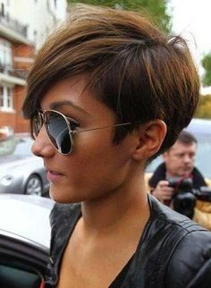 Cool Super Short Ombre Brown 100 Human Hair Monofilament Wig for Girls