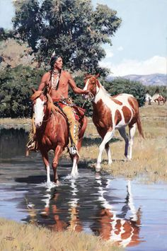 David Mann, Sioux Summer, oil, 36 x 24.