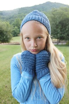 Matching Hat and Gloves for Kids and by TinkerCreekHandknits