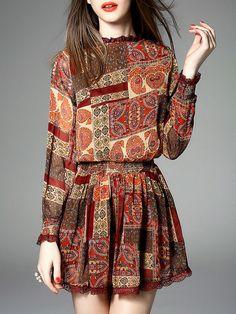 Printed Silk #Mini #Dress