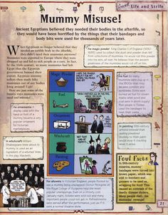 Horrible Histories Magazine # 3 : The Awesome Egyptians Mummy Mania Egyptian Crafts, Egyptian Mummies, Egyptian Art, Ancient Egypt Lessons, Egypt Games, 6th Grade Social Studies, 6th Grade Reading, Horrible Histories, History Magazine