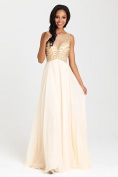 Prom Dresses in Salt Lake City, Utah   2017 Styles   Gateway Bridal & Prom   Worldwide Shipping   16-324   Intricate beadwork adds a structural element to this breezy chiffon gown.     Available in Aqua or Champagne