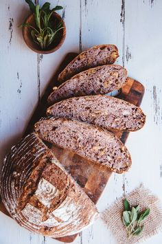 Sage and walnut bread / Brot / bread Bread Recipes, Baking Recipes, Vanilla Recipes, Healthy Afternoon Snacks, Dinner Rolls Recipe, Our Daily Bread, Bread And Pastries, Artisan Bread, Bread Rolls