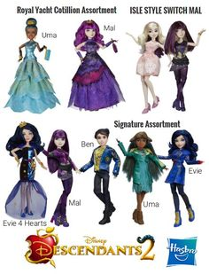 Hasbro brings the 'Descendants 2' characters to life  This summer, Disney Channel looks to transport viewers back to Auradon in Descendants 2 the highly anticipated sequel to 2015s hit Disney original film! However, when we catch up with Mal, Evie, Carlos, and Jay in this summers follow-up, quite a lot has changed from when we last left the ragtag group.