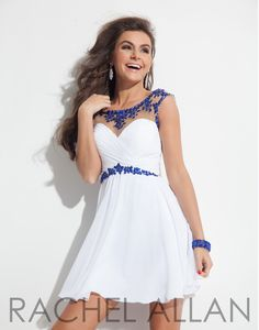 Rachel Allan 6635 White Royal Homecoming Dress at Rsvp Prom and Pageant, Atlanta, GA