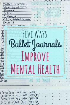 Five fantastic reasons you should use a bullet journal if you suffer from mental health challenges. Learn how you can use your monthly and weekly spreads, along with trackers, to improve your mental health. Tips and suggestions for your bullet journal to Mental Health Plan, Improve Mental Health, Bullet Journal Layout, Bullet Journal Inspiration, Bullet Journals, Bullet Journal Ideas For Mums, Bullet Journal Adhd, Art Journals, Bujo