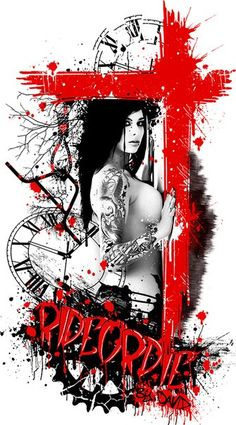 girl trash polka tattoo design