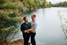 Intimate, September Engagement Photos at Pink Lake, QC (Sept. by the talented Saidia Photography (Clayton, ON). Engagement Session, Engagement Photos, Pink Lake, Turquoise Water, Amazing Adventures, Vancouver Island, Whimsical, September, Park