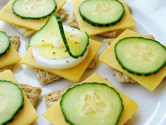 Norwegian Open-Faced Sandwich Crackers Recipe