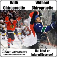 Hat trick... or injured reserve? It's up to you! #Chiropractic works!