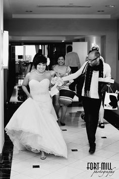 Emotions run high on the wedding day. I love this photo because it captures the happiness and the excitement of our bride right before the ceremony.