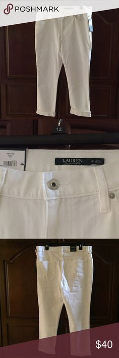 Lauren White Denim Girlfriend Jeans. Lauren Ralph Lauren White Girlfriend Jeans. Size 12. Inseam 25 inches. Lauren Ralph Lauren Jeans Ankle & Cropped