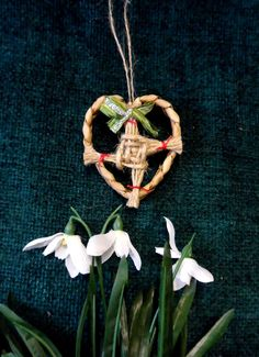 Handmade St.Brigid's cross in Rush Heart. Pagan by PositivelyPagan
