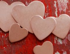 Stamping Blanks - Copper HEART - 18 gauge - You choose the size  debured - $5.00 - Handmade Commercial Supplies, Crafts and Unique Gifts by Metal Mashers