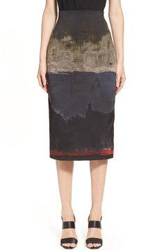 the print is awesome! Donna Karan 'Raku' Pencil Skirt