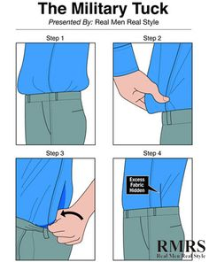 4 Ways To Tuck In A Dress Shirt | Wear Your Shirts Perfectly | Using Shirttail Garters