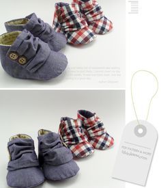 """Jaden Baby Sneakers from """"I think sew""""... so cute! If I ever have kids, this is the kind of stuff they'll wear!!"""