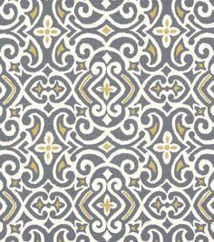 Robert Allen @ Home Print Fabric-New Damask Greystone