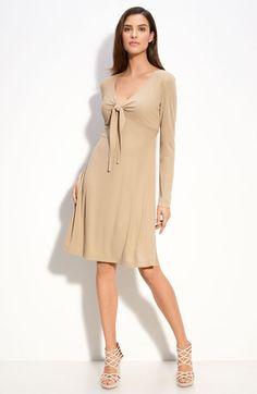 St. John Collection Matte Jersey Dress in Beige (anise)