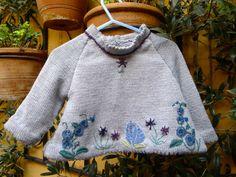 Botanica Knitting pattern by Jenny Occleshaw Free Baby Patterns, Baby Knitting Patterns, Knitting Designs, Knitting Projects, Knitting Ideas, Crochet Baby, Knit Crochet, Stylish Tops, Free Baby Stuff