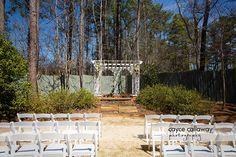 The ceremony location at Payne Corley House, Atlanta GA