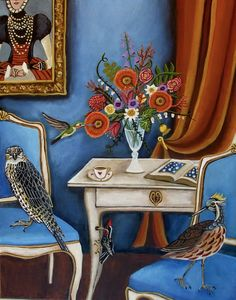 Art Print of a Still Life Painting-Bird House-Original painting by Catherine Nolin