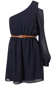 Cut Out Shoulder Dress by Rare**    us.topshop.com