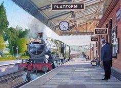 """Locomotora 7903 """"Foremarke Hall"""" 4-6-0 del tren """"The Bristolian"""" en la Estación de Toddington, GB"""