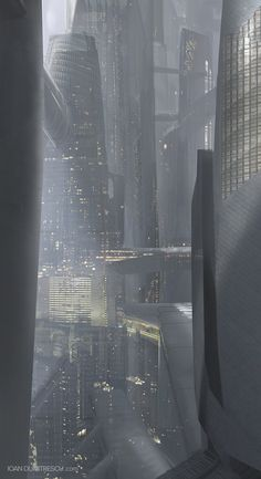 Cyberpunk Atmosphere - Amazing concept art of a futuristic city