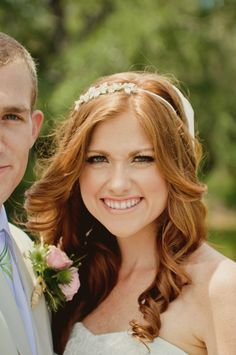 Redhead brides? :) :  wedding blush gowns makeup red hair redheads skin tone Formals034