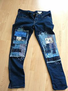 BittyAmbam: Pimp your jeans - Creadienstag