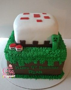 Minecraft cake for a sweet little girl!
