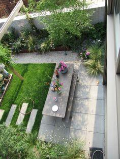 Garden Yard Ideas, Balcony Garden, Garden Landscaping, Back Gardens, Small Gardens, Outdoor Gardens, Small Outdoor Spaces, Dream Garden, Layout Design