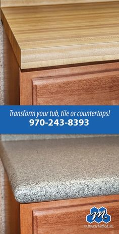Add bullnose edging to to your countertops to get rid of those out dated sharp edges!