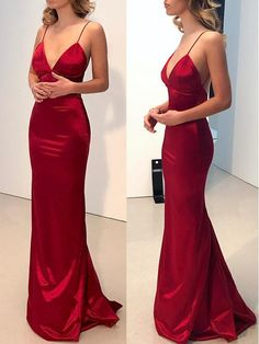 Prom Dress Princess, Simple Backless Dark Red Mermaid Long Evening Prom Dresses Shop ball gown prom dresses and gowns and become a princess on prom night. prom ball gowns in every size, from juniors to plus size. Straps Prom Dresses, Backless Prom Dresses, Cheap Prom Dresses, Prom Party Dresses, Satin Dresses, Ball Dresses, Homecoming Dresses, Red Satin Prom Dress, Red Silk Dress