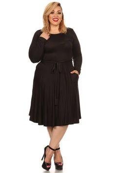Plus Size Around Your Heart Black-Dress