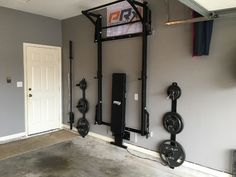 Ideas Home Gym Squat Rack Workout Rooms For 2019 Garage Gym, Basement Gym, Man Cave Garage, Basement Ideas, Basement Plans, Basement Renovations, Garage Shelf, Basement Decorating Ideas, Small Basement Bars